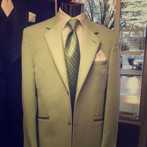 Retro Andrew Fezza Mint Green Tuxedo Jacket
